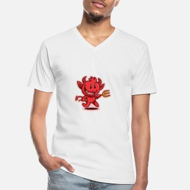Devil Horns Devil Little Devil - Men's V-Neck T-Shirt