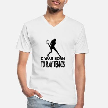 Passierschlag Tennis players play tennis - Men's V-Neck T-Shirt