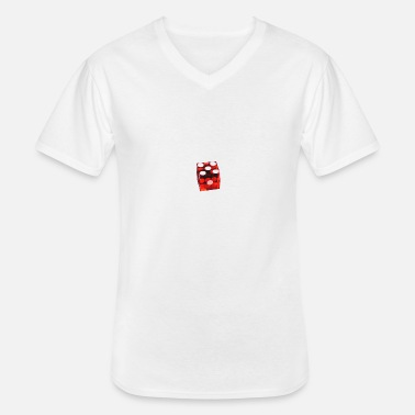 Red cube - Men's V-Neck T-Shirt