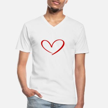 Relationship Hearts Against Hate 315 - Men's V-Neck T-Shirt
