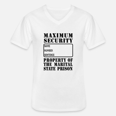 Jail Prisoner, Marriage State Prison - Men's V-Neck T-Shirt
