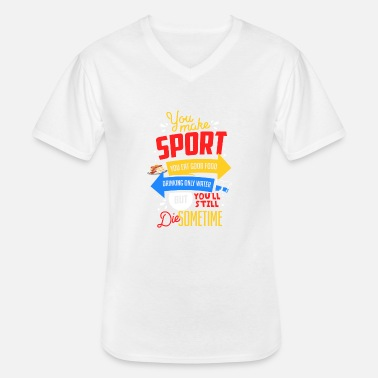 Anti Anti sport and anti healthy life - Men's V-Neck T-Shirt