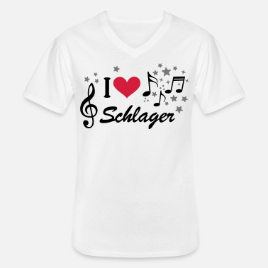 German Schlager German Schlager German pop music - Men's V-Neck T-Shirt