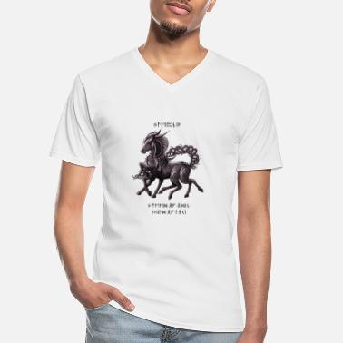 Sleipnir Celtic Design (with writing) - Men's V-Neck T-Shirt