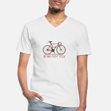 Gear Born to Cycle - Men's V-Neck T-Shirt
