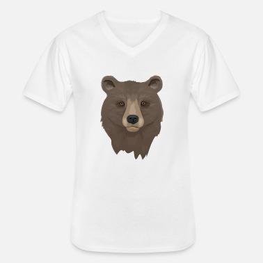 Brown Brown Bear - Men's V-Neck T-Shirt