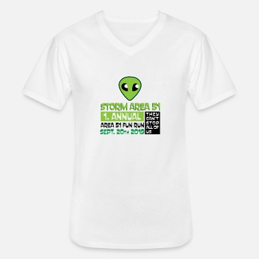 Annual 1 Annual Fun Run - Men's V-Neck T-Shirt