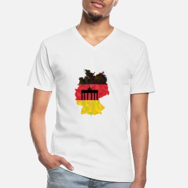 Federal Republic Of Germany The Federal Republic of Germany + Brandenburg Gate - Men's V-Neck T-Shirt