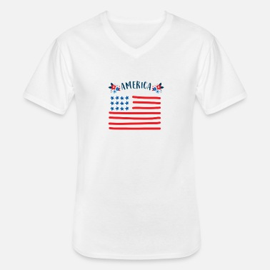 We Are Boston America - Men's V-Neck T-Shirt