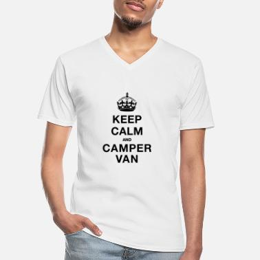 Keep Calm Keep Calm and Campervan - Men's V-Neck T-Shirt