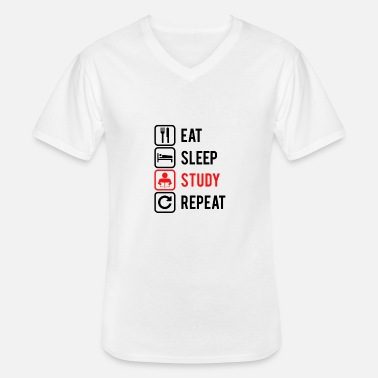 Studying Chinese REPEAT study, studie - Men's V-Neck T-Shirt