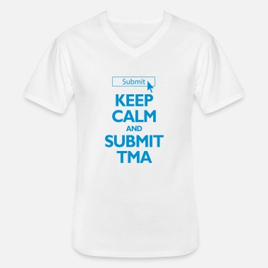 Open Keep Calm and Submit TMA Student Mug - Men's V-Neck T-Shirt