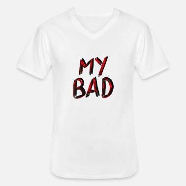 Dubstep My Bad // Red Black - Klassiek mannen T-shirt met V-hals