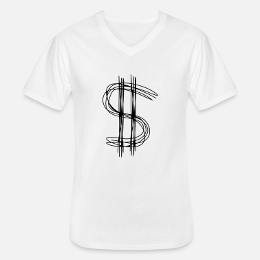 Dollar Sign Dollar sign dollar - Men's V-Neck T-Shirt