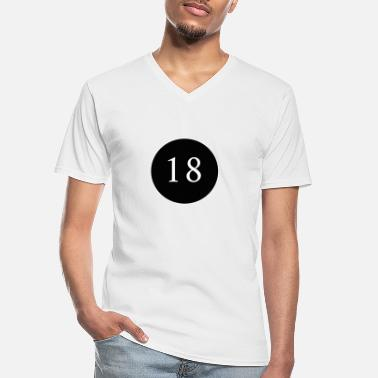 Legal Age 18, years, birthday, of legal age, anniversary - Men's V-Neck T-Shirt