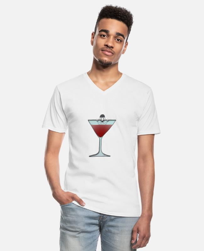 Festival T-Shirts - Männchen im Glas / man in glas - Men's V-Neck T-Shirt white