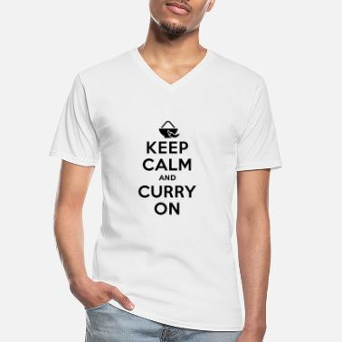 Curry Keep calm and curry on - Men's V-Neck T-Shirt