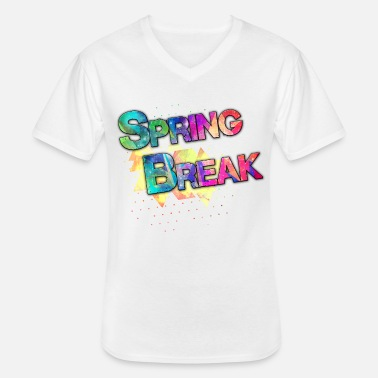 Spring Break Spring break - Men's V-Neck T-Shirt