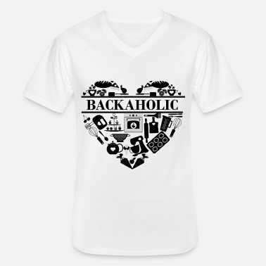 Cake Backaholic - Men's V-Neck T-Shirt