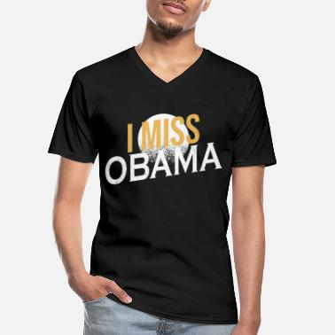 Obama Jeg savner Obama for president 2020 Anti Racism - Klassisk T-skjorte med V-hals for menn
