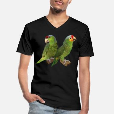 Amazon Red-fronted Amazon and lilac-crowned parrot - Men's V-Neck T-Shirt