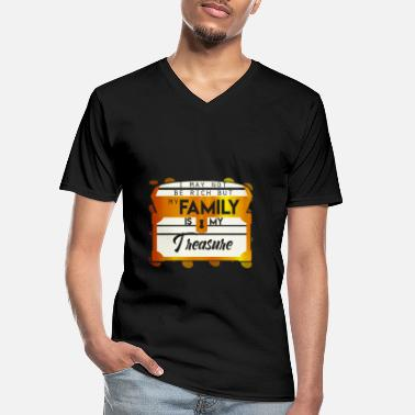 Rich Not rich my family is my darling - Men's V-Neck T-Shirt
