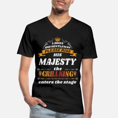 Grillking His Majesty the Grillking - Men's V-Neck T-Shirt
