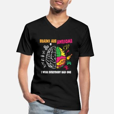 Brains are awesome - Men's V-Neck T-Shirt