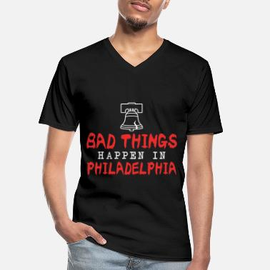 Philly Philly Liberty Bell Come To Philly for the Crack - Klassisk herre T-shirt med V-udskæring