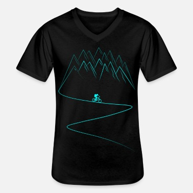 Bike MTB Mountain Bike Mountains Cyclist Biker - Men's V-Neck T-Shirt