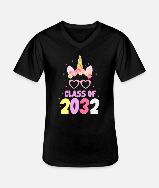 Kindergarten T-Shirts - Class of 2032 kindergarten preschool gift - Men's V-Neck T-Shirt black