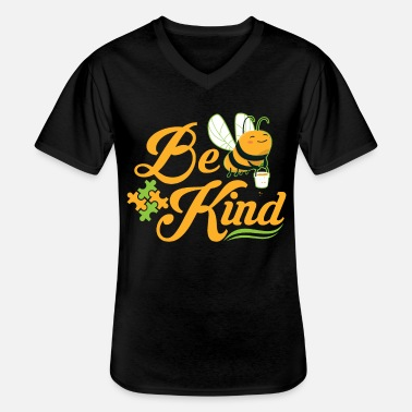 Pièce Bee Kind Autism Awareness Autism Superhero - T-shirt col V Homme