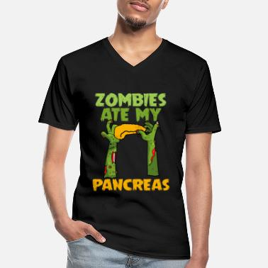 Obey Zombies Ate My Pancreas Type 1 Diabetes Awareness - Men's V-Neck T-Shirt