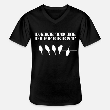 Different Dare To Be Different | Vogelmotiv - Men's V-Neck T-Shirt
