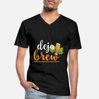 Black Brewer beer brew beer design Deja Brew - Men's V-Neck T-Shirt
