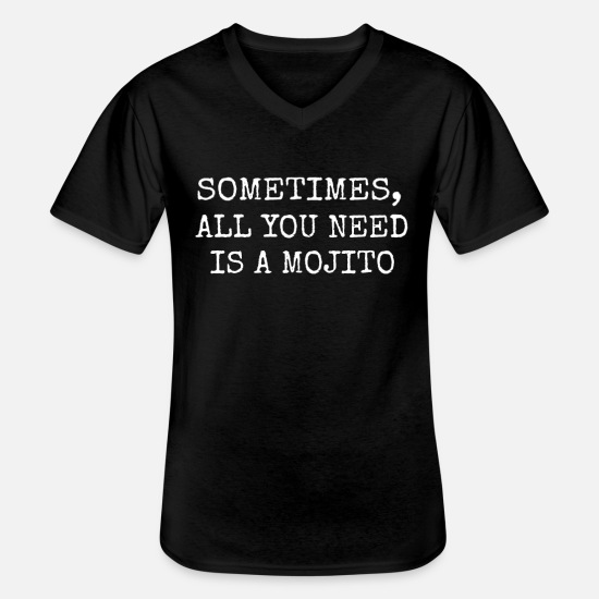 Birthday T-Shirts - Mojito cocktail bartender gift men women - Men's V-Neck T-Shirt black