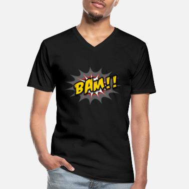 Tekstballon Comic Bam Gamer Gaming Video Games Zocker - Men's V-Neck T-Shirt