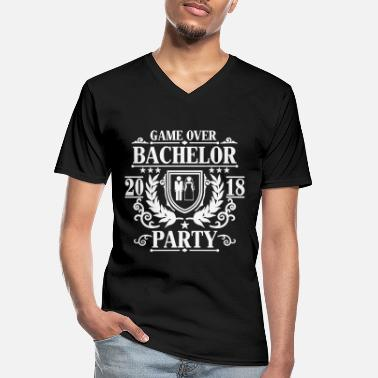Stag Bachelor Party Game over 2018 -JGA Party-Bräutigam - Men's V-Neck T-Shirt