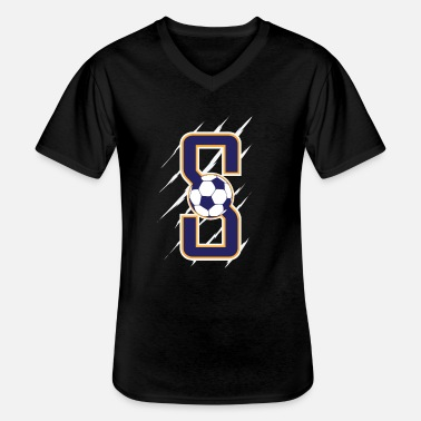 Shot Soccer ball - Men's V-Neck T-Shirt