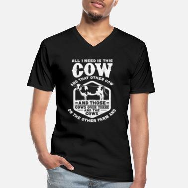 Udder Cow herd - Men's V-Neck T-Shirt