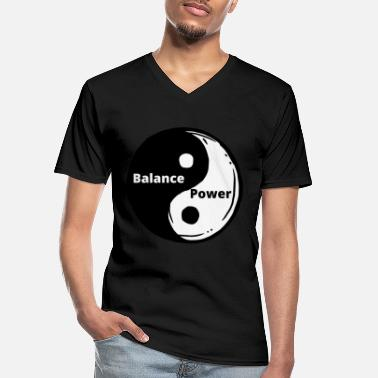 Start Yin Yang, Sacred Geometry Universe Architect - Men's V-Neck T-Shirt