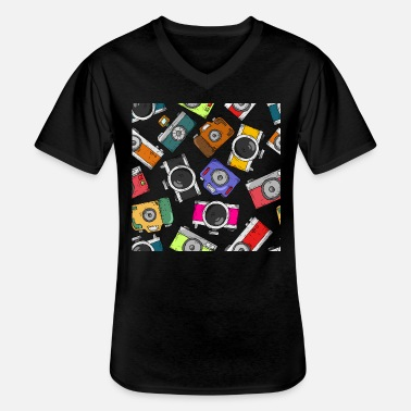 Selfie Illustration pattern photography camera - Men's V-Neck T-Shirt