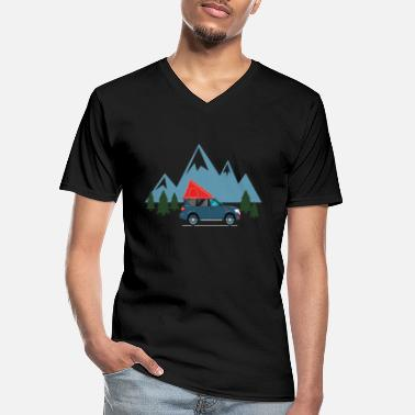 Tent My heart beats for roof tents. Roof tent - Men's V-Neck T-Shirt