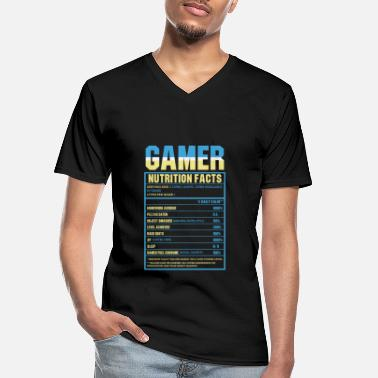 Gamer Gamer Nutrition Facts - Funny Gamer - Men's V-Neck T-Shirt