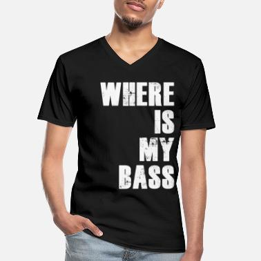 Bass Player Bass bass player - Men's V-Neck T-Shirt