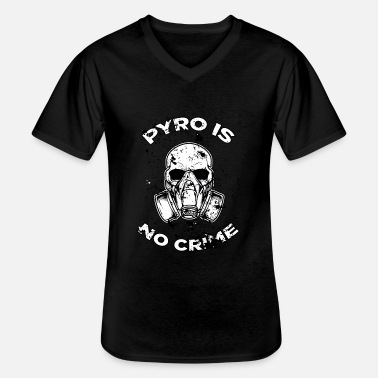 Pyro Pyrotechnics, New Year, New Year, no crime, pyro - Men's V-Neck T-Shirt