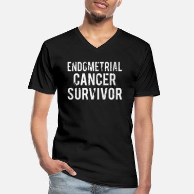 Endometrial Cancer Poison Endometrial Cancer: Endometrial Cancer Survivor - Men's V-Neck T-Shirt