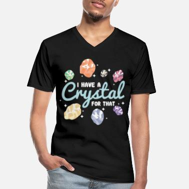 Crystal Crystal crystals gemstones - Men's V-Neck T-Shirt