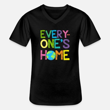 Dag Van De Aarde Every Home Is Save Our Planet Dag van de aarde Every Home is Save Our Planet Shirt - Klassiek mannen T-shirt met V-hals