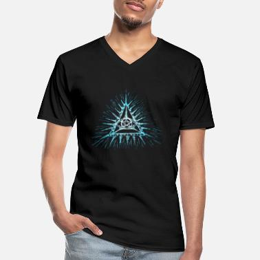 Triangle Eye of God, pentagram, Masonic, Triangle, wisdom - Men's V-Neck T-Shirt